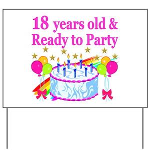Happy 18th Birthday Yard Signs