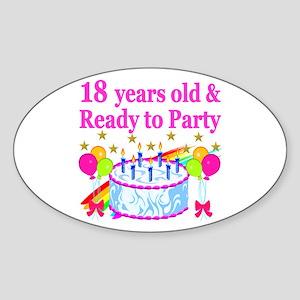 18TH BIRTHDAY Sticker (Oval)