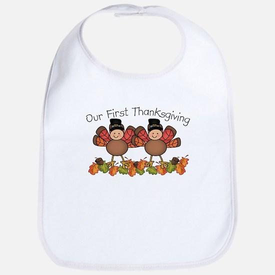 First Thanksgiving TWINS Bib