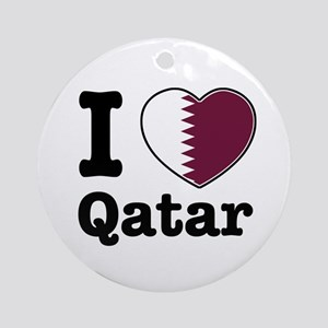 I love Qatar Ornament (Round)