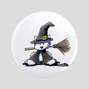"""Westie Witch 3.5"""" Button"""