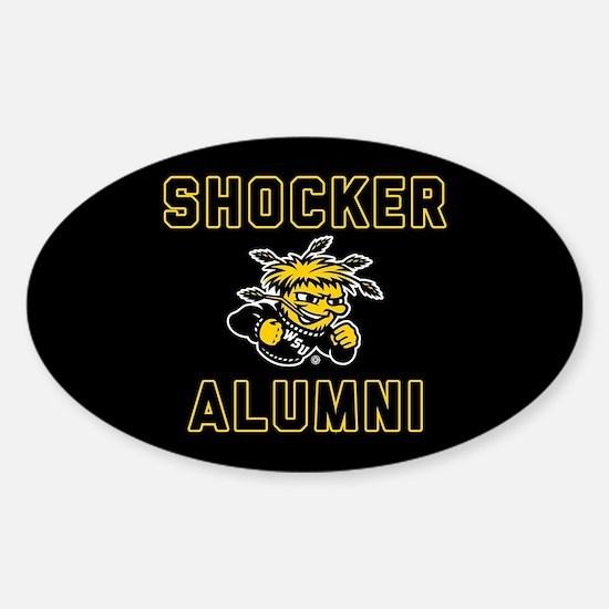 Wichita State Shocker Alumni Sticker (Oval)
