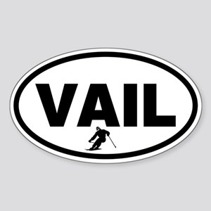 Vail Skier Oval Sticker