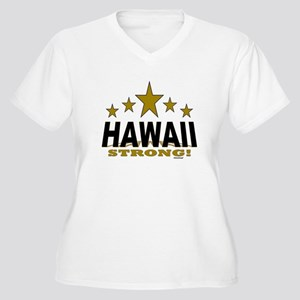 Hawaii Strong! Women's Plus Size V-Neck T-Shirt