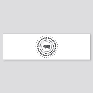 Pig Chrome Studs Sticker (Bumper)