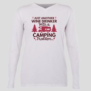 Wine Drinker Camping White T-Shirt