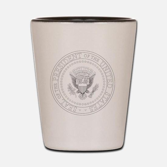 Unique Presidential seal Shot Glass