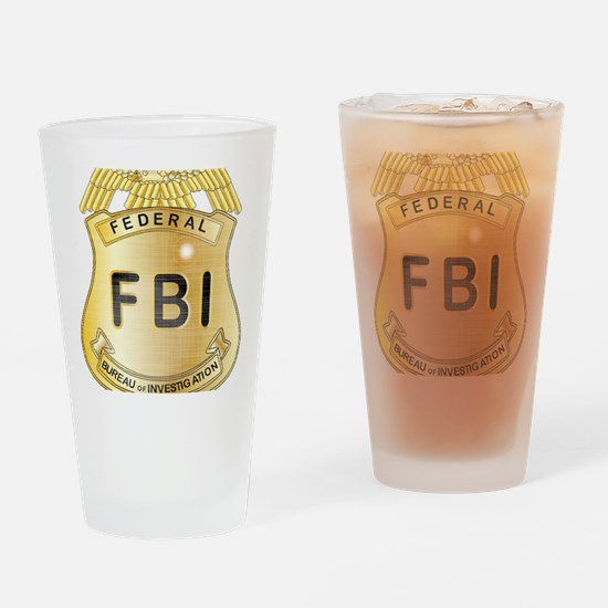 Funny Fbi Drinking Glass