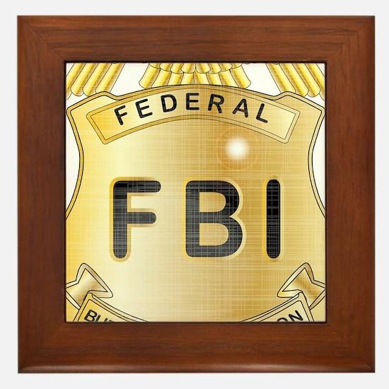 Funny Fbi Framed Tile