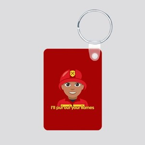 Emoji Put Out Your Flames Aluminum Photo Keychain