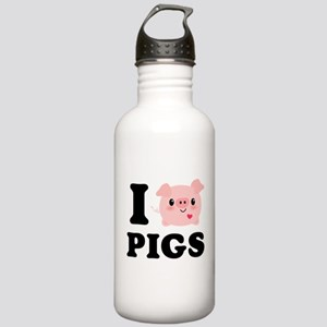 I Love Pigs Stainless Water Bottle 1.0L