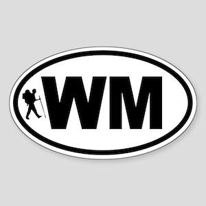 White Mountains WM Hiker Oval Sticker