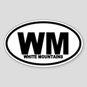 White Mountains WM Oval Sticker