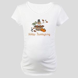 HappyThanksgiving Fall Maternity T-Shirt