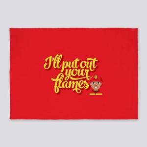 Emoji I'll Put Out Your Flames 5'x7'Area Rug