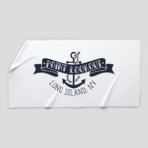 Pt Lookout Banner Beach Towel