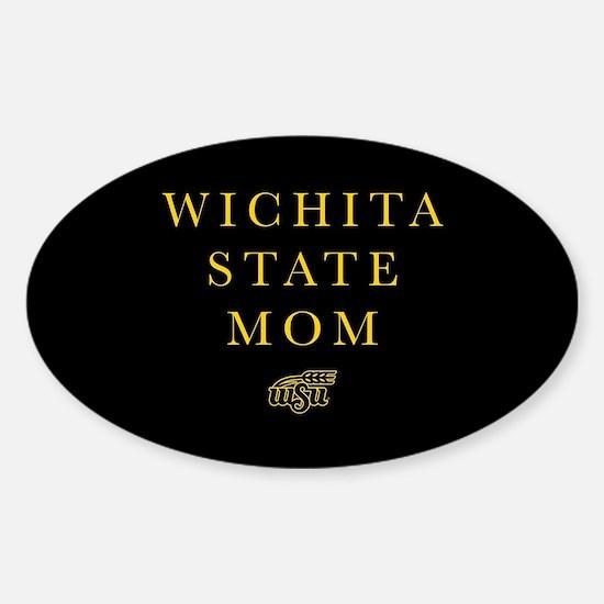 Wichita State Mom Sticker (Oval)