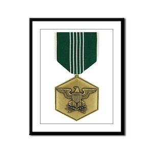 Commendation Medal Framed Panel Print