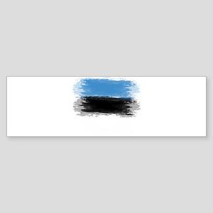 Estonia flag Tallinn Bumper Sticker