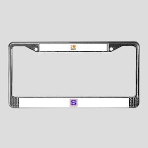 I love Vanuatu License Plate Frame