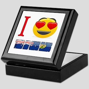 I Love Turks and Caicos Islands Keepsake Box