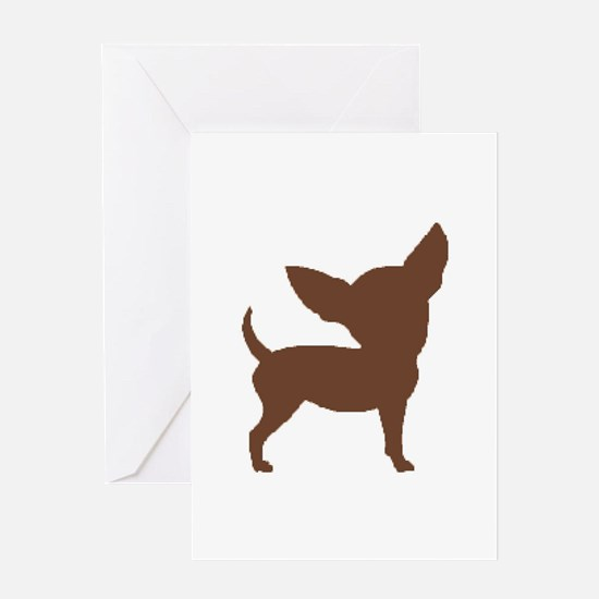 Chihuahua Two Brown 1C Greeting Cards
