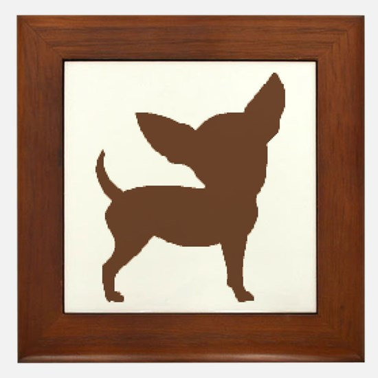 Chihuahua Two Brown 1C Framed Tile