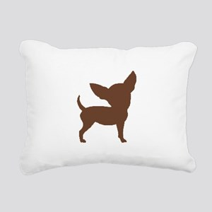 Chihuahua Two Brown 1C Rectangular Canvas Pillow