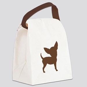 Chihuahua Two Brown 1C Canvas Lunch Bag