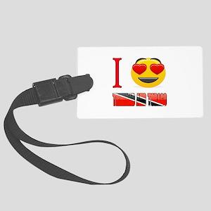 I love Trinidad and Tobago Large Luggage Tag
