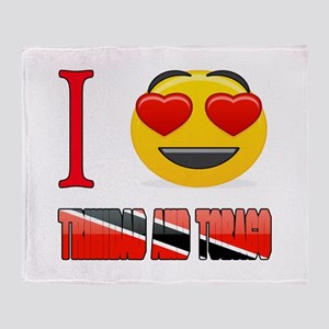 I love Trinidad and Tobago Throw Blanket