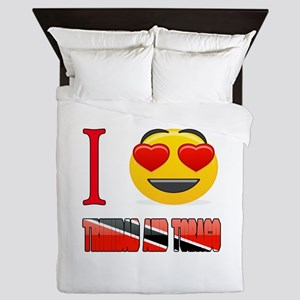 I love Trinidad and Tobago Queen Duvet
