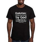 Evolution/God Men's Fitted T-Shirt (dark)