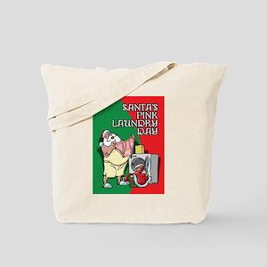 Santa's Pink Laundry Day Tote Bag