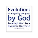 Evolution/God Square Sticker 3