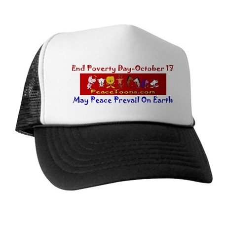 PeaceToons End Poverty Day Hat