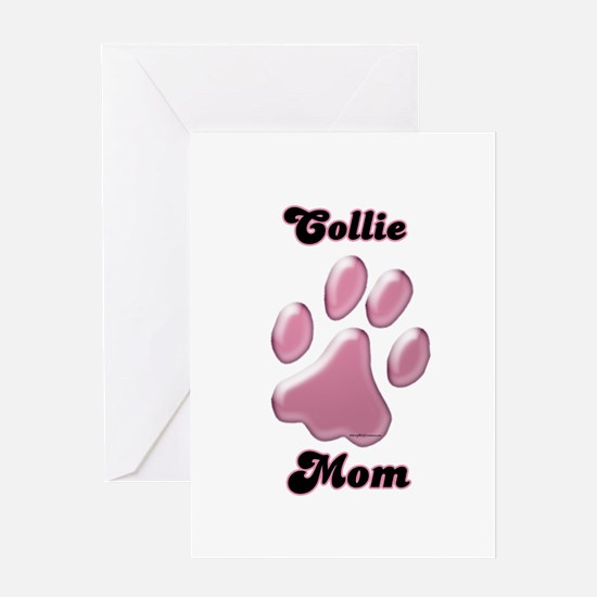 Collie Mom3 Greeting Card