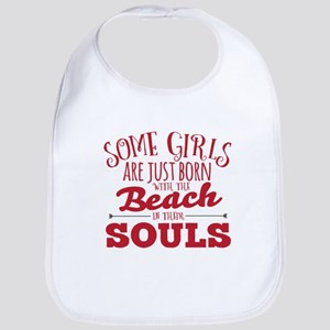 Girls are Beach Souls Baby Bib