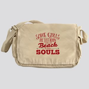 Girls are Beach Souls Messenger Bag