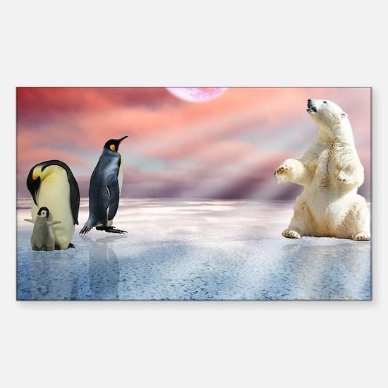 Unique Polar bear photo Sticker (Rectangle)