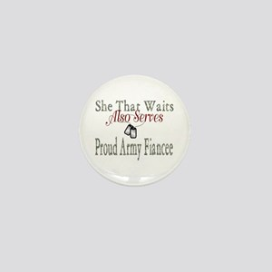 she that waits proud army fiancee Mini Button