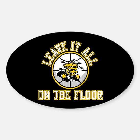 Wichita State Leave It All On The F Sticker (Oval)