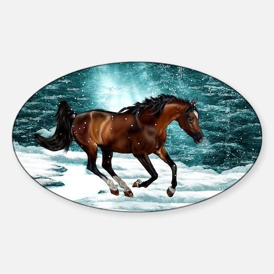 Winter Theme Arabian Horse Decal