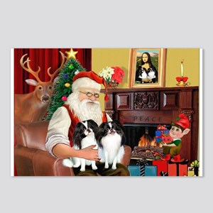 Santa's 2 Japanese Chins Postcards (Package of 8)