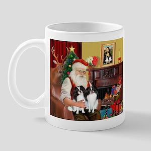 Santa's 2 Japanese Chins Mug