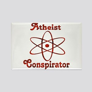 Atheist Conspirator Rectangle Magnet