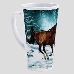 Winter Theme Arabian Horse 17 oz Latte Mug