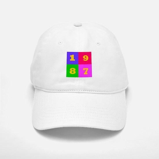 1987 Years Designs Baseball Baseball Cap
