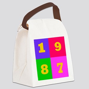 1987 Years Designs Canvas Lunch Bag