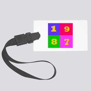 1987 Years Designs Large Luggage Tag
